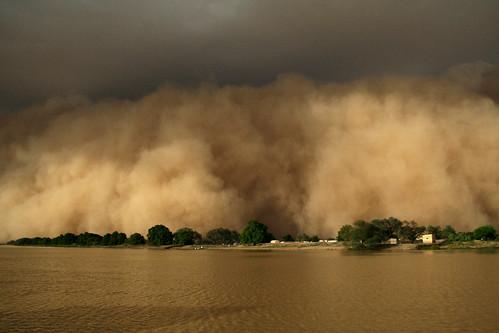 river view sandstorm senegal mauritania podor