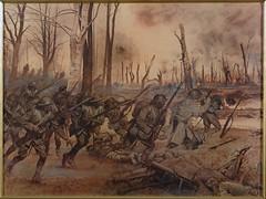 sketch(0.0), mythology(0.0), ancient history(1.0), violence(1.0), war(1.0), painting(1.0), infantry(1.0), drawing(1.0), battle(1.0),