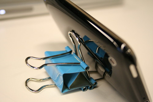 iPhone Binder Clip Stand 2.0