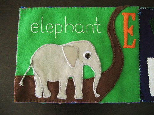 E is for elephant - finished