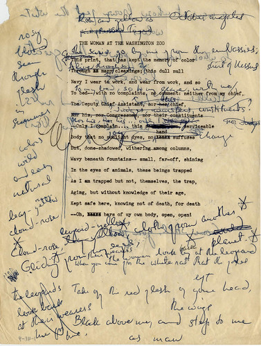 Randall Jarrell poetry drafts 1