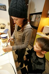 aunt megan prepares root beer floats for herself and…