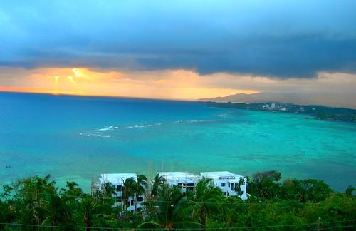 sunset beach sunrise asia philippines resort tropical boracay visayas aklan