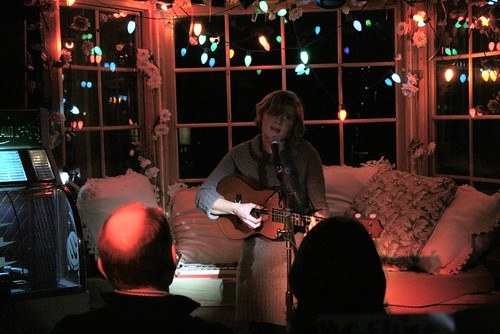 Brooke w/ baritone ukulele  by Nusi1