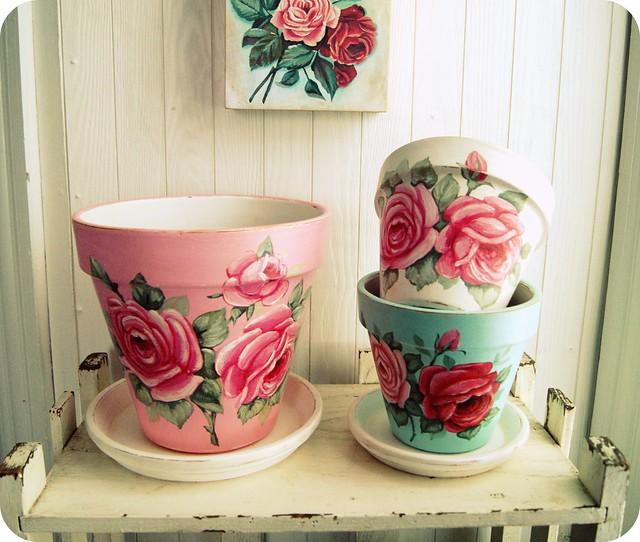 Flower Pot Hand Painted Flower Pot