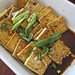 pan-fried tofu with garlic and spring onions