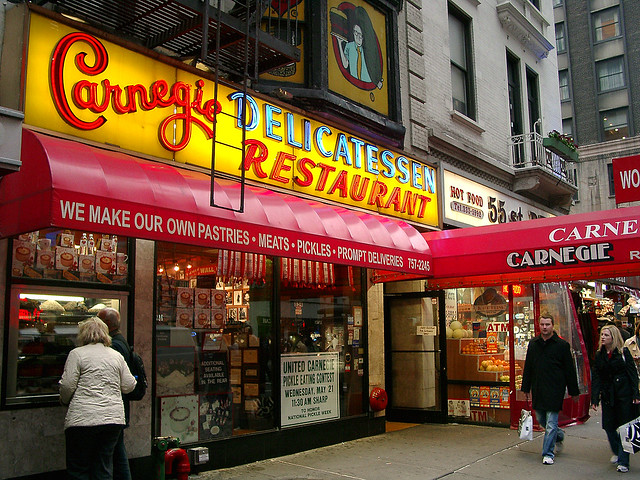 The World Famous Carnegie Deli Seventh Avenue At W 55th