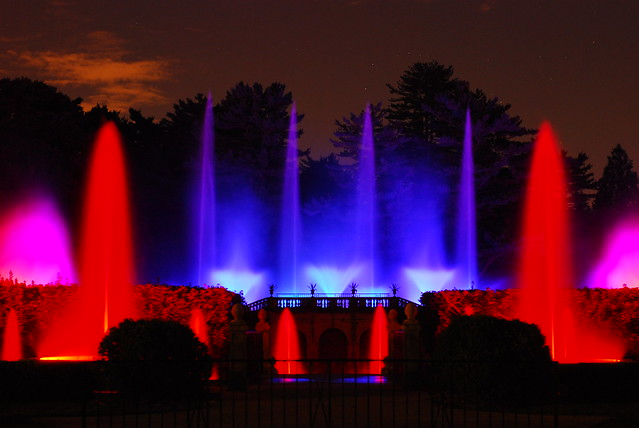 Fountain Light Show Longwood Gardens By Ronzzo1 Flickr Photo Sharing