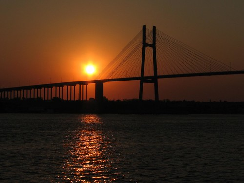 bridge sunset santafe paraná argentina backlight río america river contraluz puente atardecer américa victoria rosario nuestraseñoradelrosario canonpowershots3is