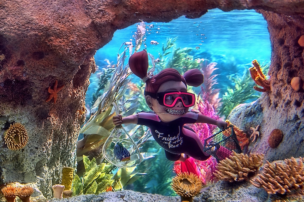 on black disney finding nemo submarine voyage look out it 39 s darla explored by. Black Bedroom Furniture Sets. Home Design Ideas