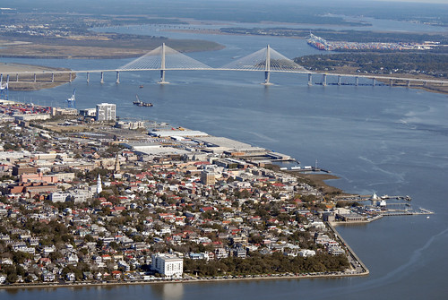 Charleston bridge aerial 103