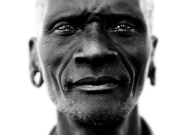 Old Mursi tribe man Ethiopia