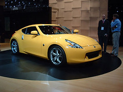 automobile(1.0), automotive exterior(1.0), wheel(1.0), vehicle(1.0), performance car(1.0), automotive design(1.0), nissan 370z(1.0), nissan(1.0), bumper(1.0), land vehicle(1.0), supercar(1.0), sports car(1.0),