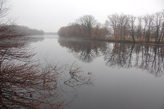 Mist over the Charles River, December 2008: Looking downstream from Watertown towards Allston-Brighton by Chris Devers