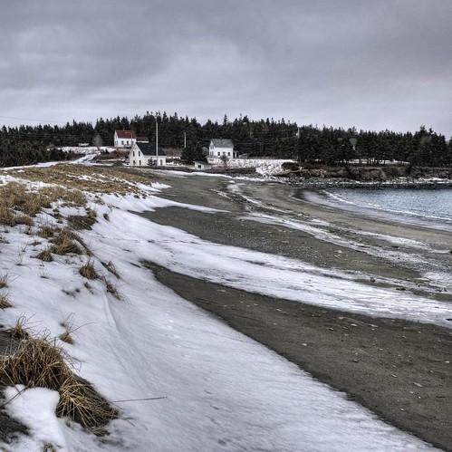ocean winter snow canada ice beach novascotia shoreline atlantic capebreton hdr 3ex garbarus vertorama