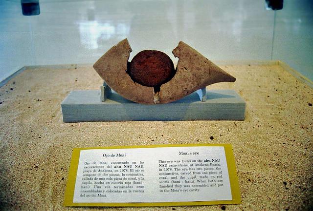 モアイの目 - Easter Island 博物館にて