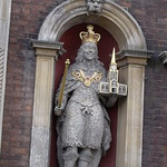 Worcester Guildhall  - figure of Charles I