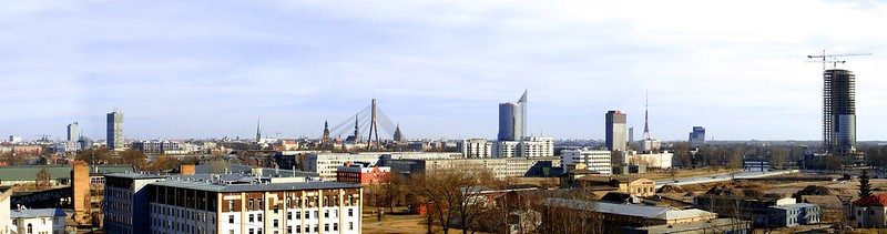 Awesome spring skyline of Riga by aigarsbruvelis