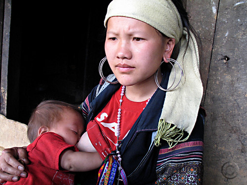 Hmong young mother