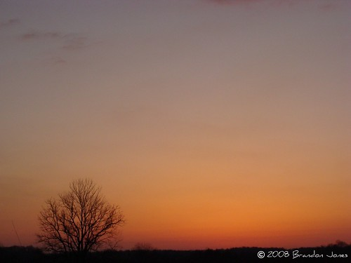 sunset orange beautiful night country indiana