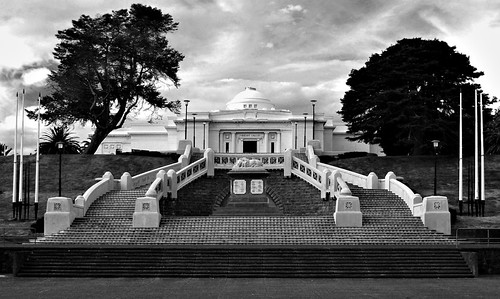 trees 2 6 stone architecture clouds stairs 1 4 steps symmetry queenspark neoclassicism axis wanganui neoclassical flagpoles sleepinglion sarjeantartgallery edmundanscombe axialplanning