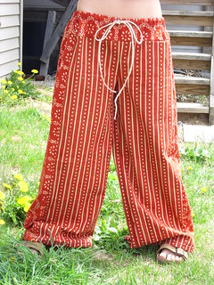 Red Batik Pants