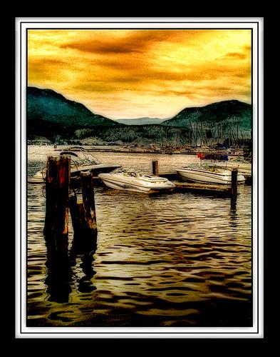 summer canada colour boats waterfront britishcolumbia lakeside kelowna blackframes eveninglight moorings okanaganlake themoulinrouge impressedbeauty aplusphoto ysplix dapagroupmeritaward theunforgettablepictures platinumheartaward goldstaraward grouptripod