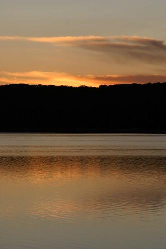 sunset usa lake us midwest michigan gaylord otsego