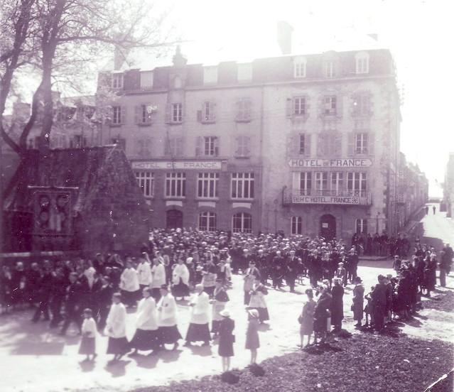 Roscoff - Procession pendant la guerre 1939/1945