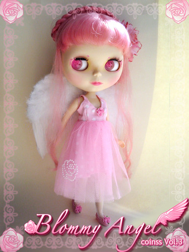 Blommy Angel - coinss custom Blythe by coinss