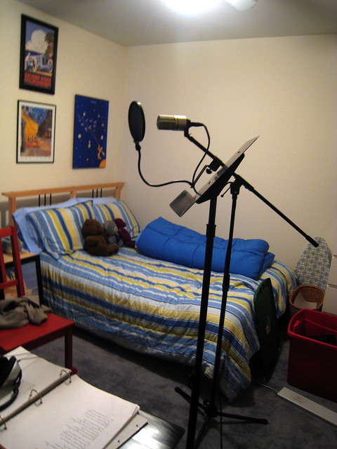 Bedroom music studio