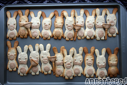Raving Rabbids Cookies platter
