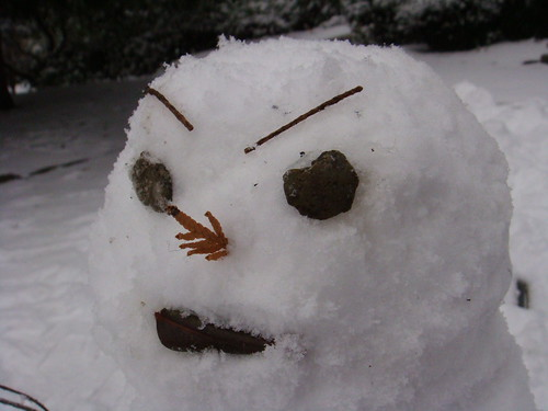 Snowman close up