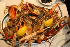 spiny lobster(0.0), crab(0.0), scampi(0.0), meal(1.0), crab boil(1.0), seafood boil(1.0), crustacean(1.0), fish(1.0), seafood(1.0), invertebrate(1.0), food(1.0), dish(1.0), cuisine(1.0),