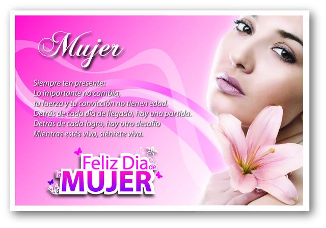 Tarjeta Dia de la Mujer | Diseñada para las mujeres en su di ...