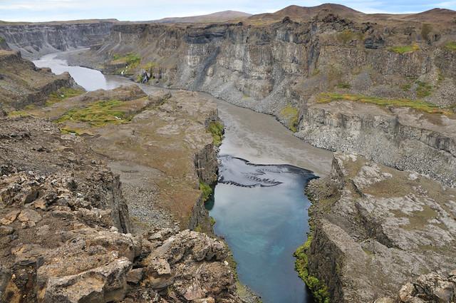 Cañón Jökulsárgljúfur. Islandia