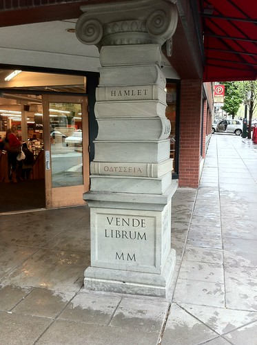 Column at Powell's Books