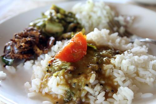 Sambar on Kerala rice
