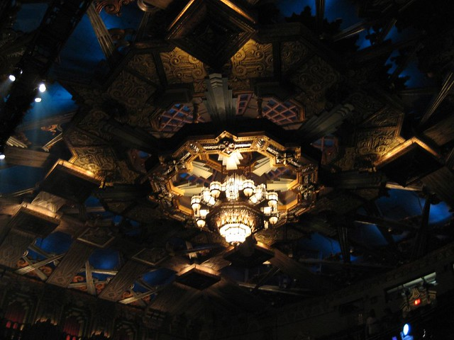 Chandelier inside the Pantages Theater. (02/27/2008)