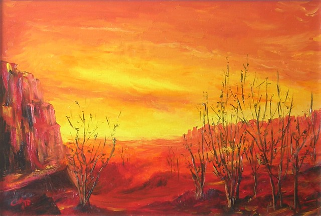 Paesaggio rosso