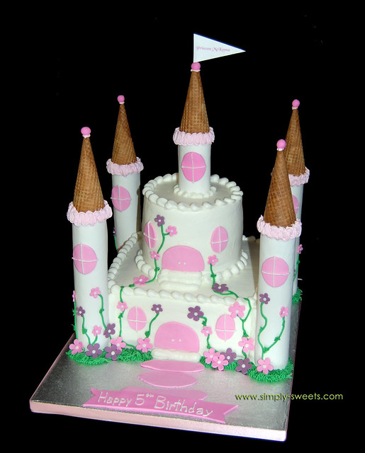 Birthday Cake Designs Princess Castle : Princess McKenna 2 tier Castle Cake Read more about our cr? Flickr - Photo Sharing!
