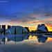 Sunset at the City of Arts and Sciences (Two photos for celebrating my 2nd anniversary in Flickr 2/2) by Salva del Saz