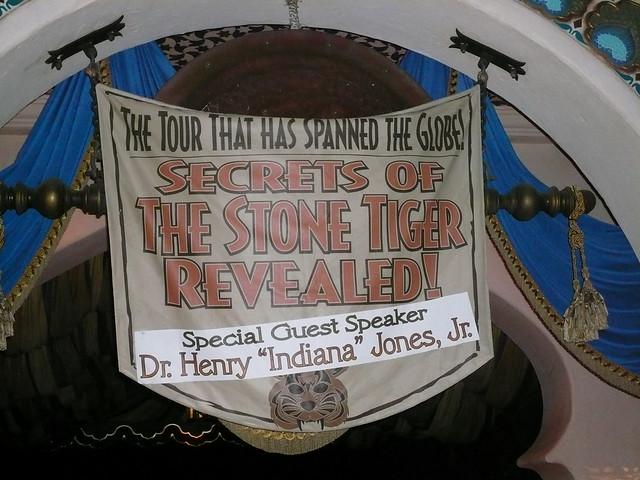 Indiana Jones Show banner at Disneyland