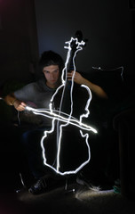 Rocco plays light cello