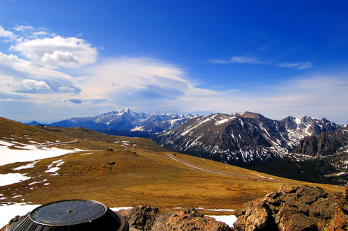 road park blue vacation sky panorama snow mountains ice june clouds d50 landscape michael nikon colorado view rocky micha national valley marker longspeak 2007 schaefer abigfave
