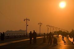 Boardwalk sunset cruise