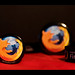 Mozilla Firefox black pins (wallpaper)