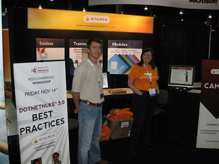 Rich and Carol in the Engage Booth
