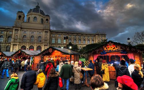 christmas market at maria-theresien-platz