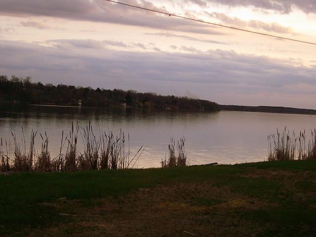buffalo lake at dusk  montello  wisconsin